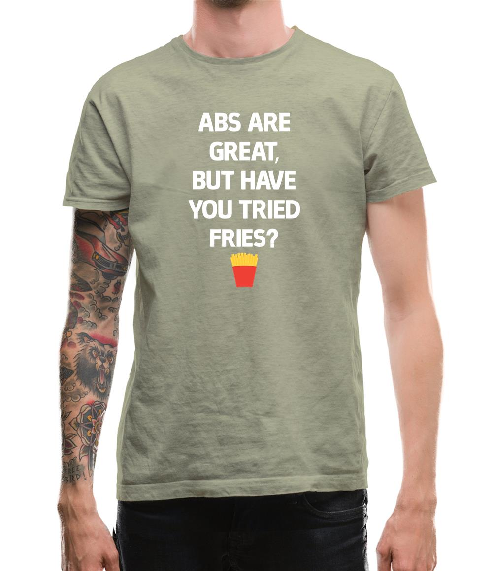 Abs Are Great, Fries Mens T-Shirt
