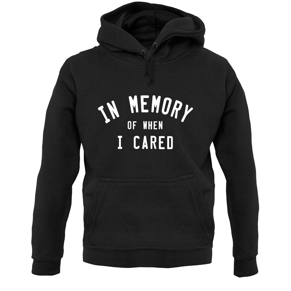 In Memory of When I Cared Unisex Hoodie