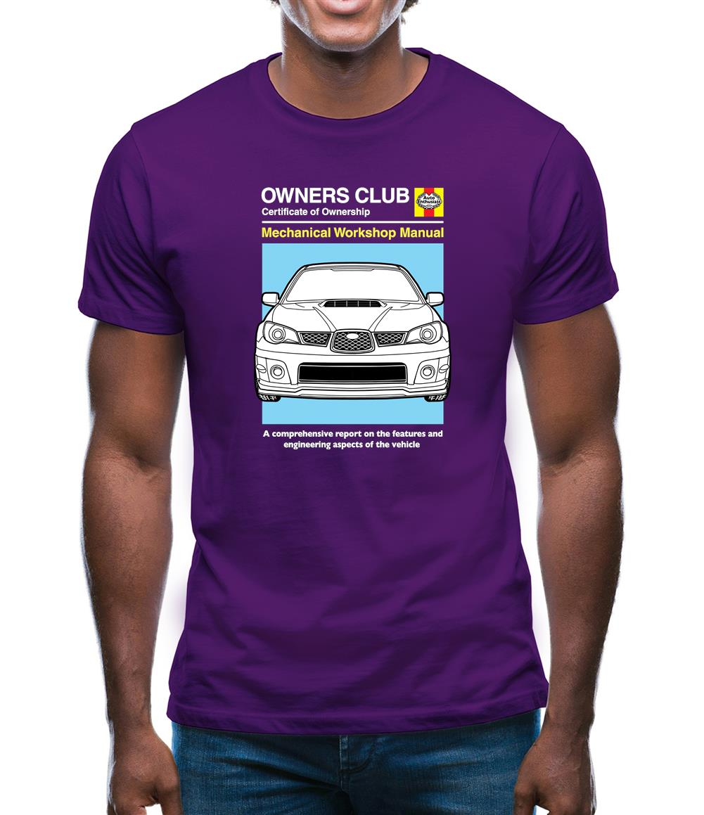 Car Owners Manual Impreza Mens T-Shirt
