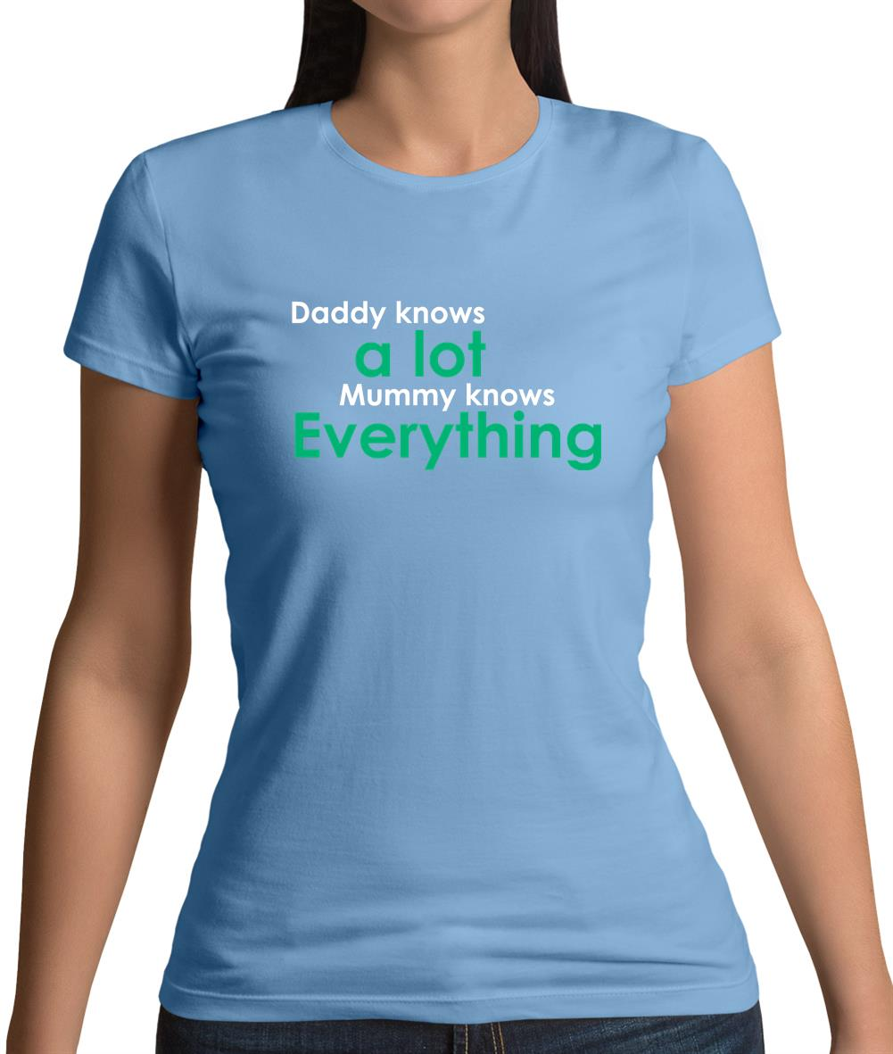 ef639f6a Daddy Knows A Lot Mummy Knows Everything Womens T-Shirt – Tee.sh