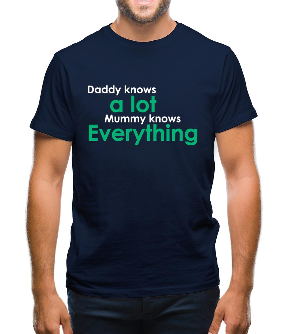 261cdac3 Daddy Knows A Lot Mummy Knows Everything Mens T-Shirt – Tee.sh