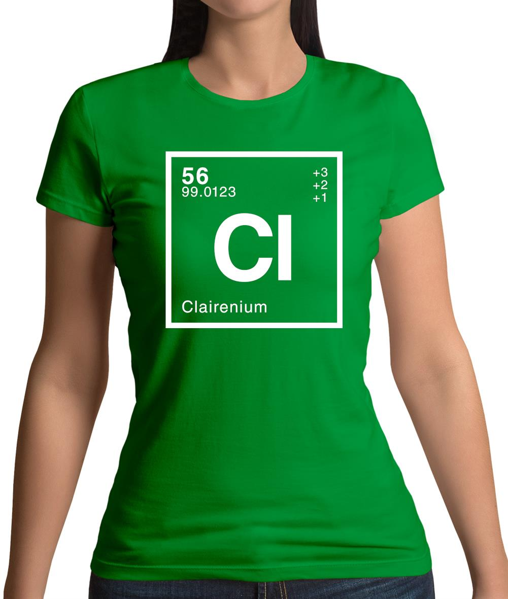 d4401635 Claire - Periodic Element Womens T-Shirt – Tee.sh