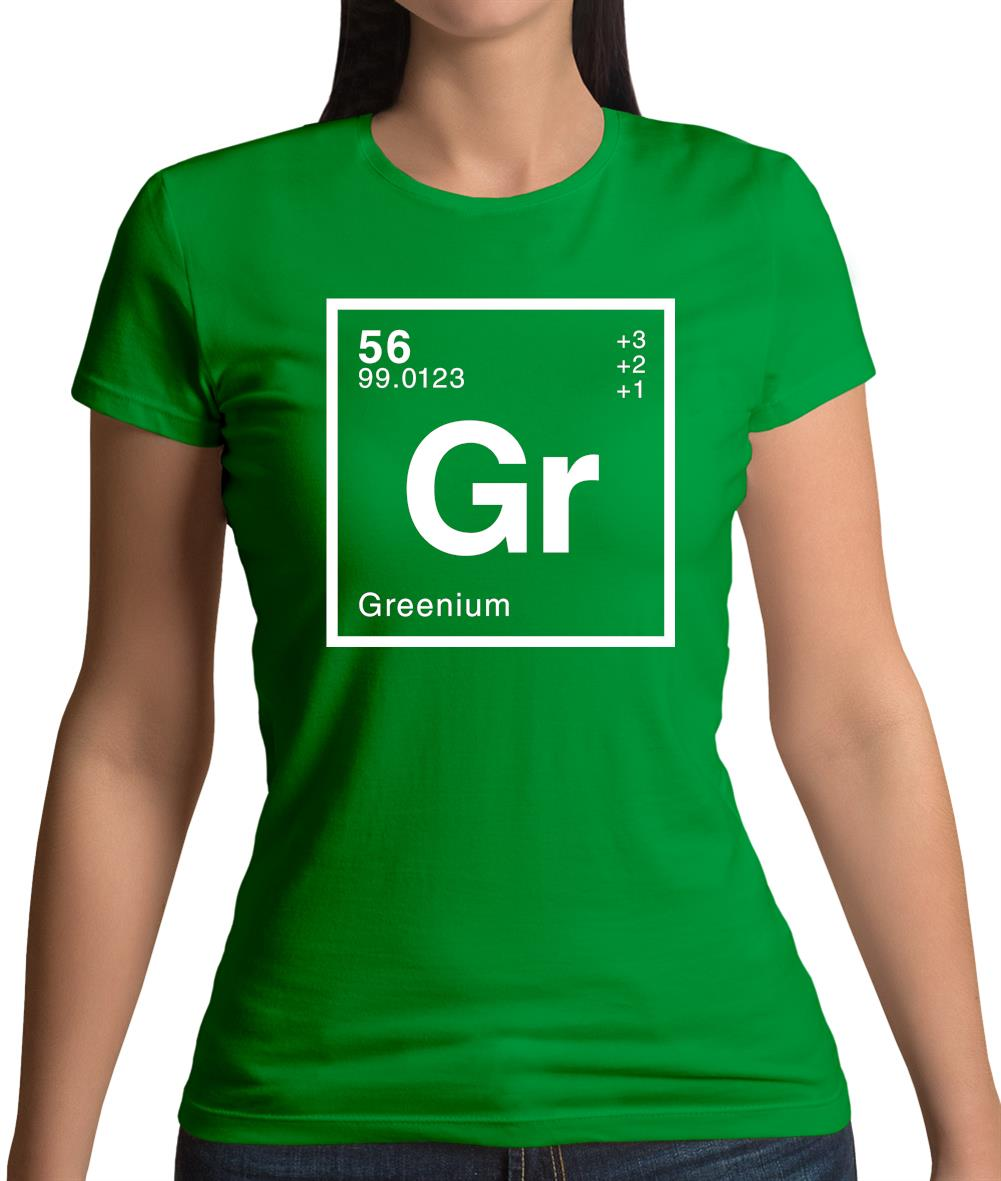 Green - Periodic Element Womens T-Shirt