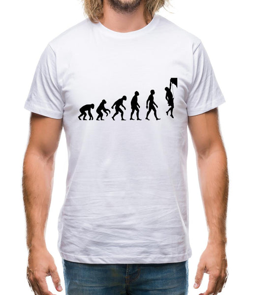 Evolution Of Man Rock Climbing Mens T-Shirt