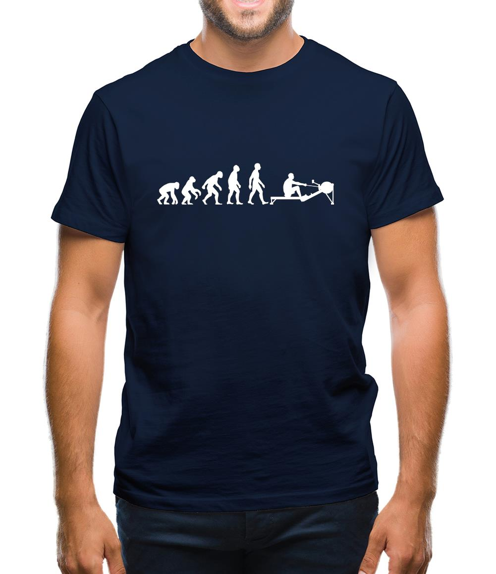 Evolution Of Man Rowing Machine Mens T-Shirt