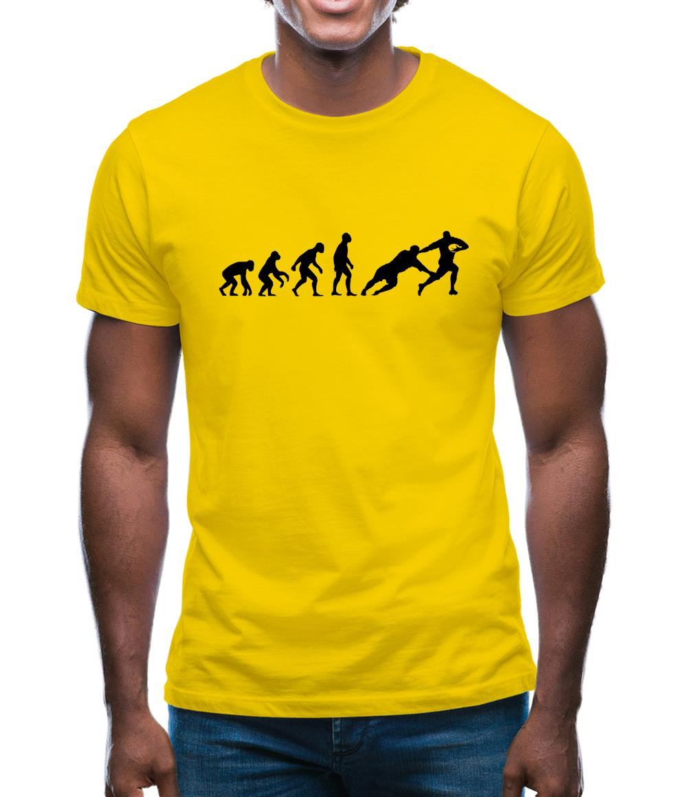 Evolution Of Rugby Line Out Mens T-Shirt