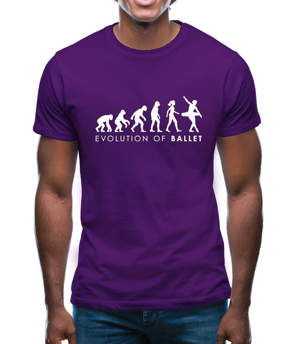 Evolution Of Woman Ballet Mens T-Shirt