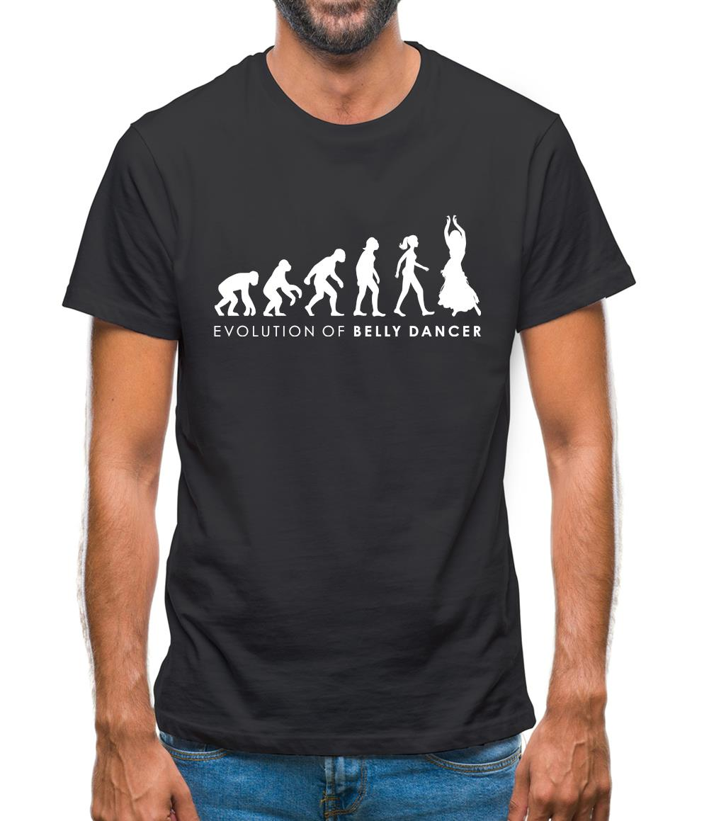 Evolution Of Woman Belly Dancer Mens T-Shirt