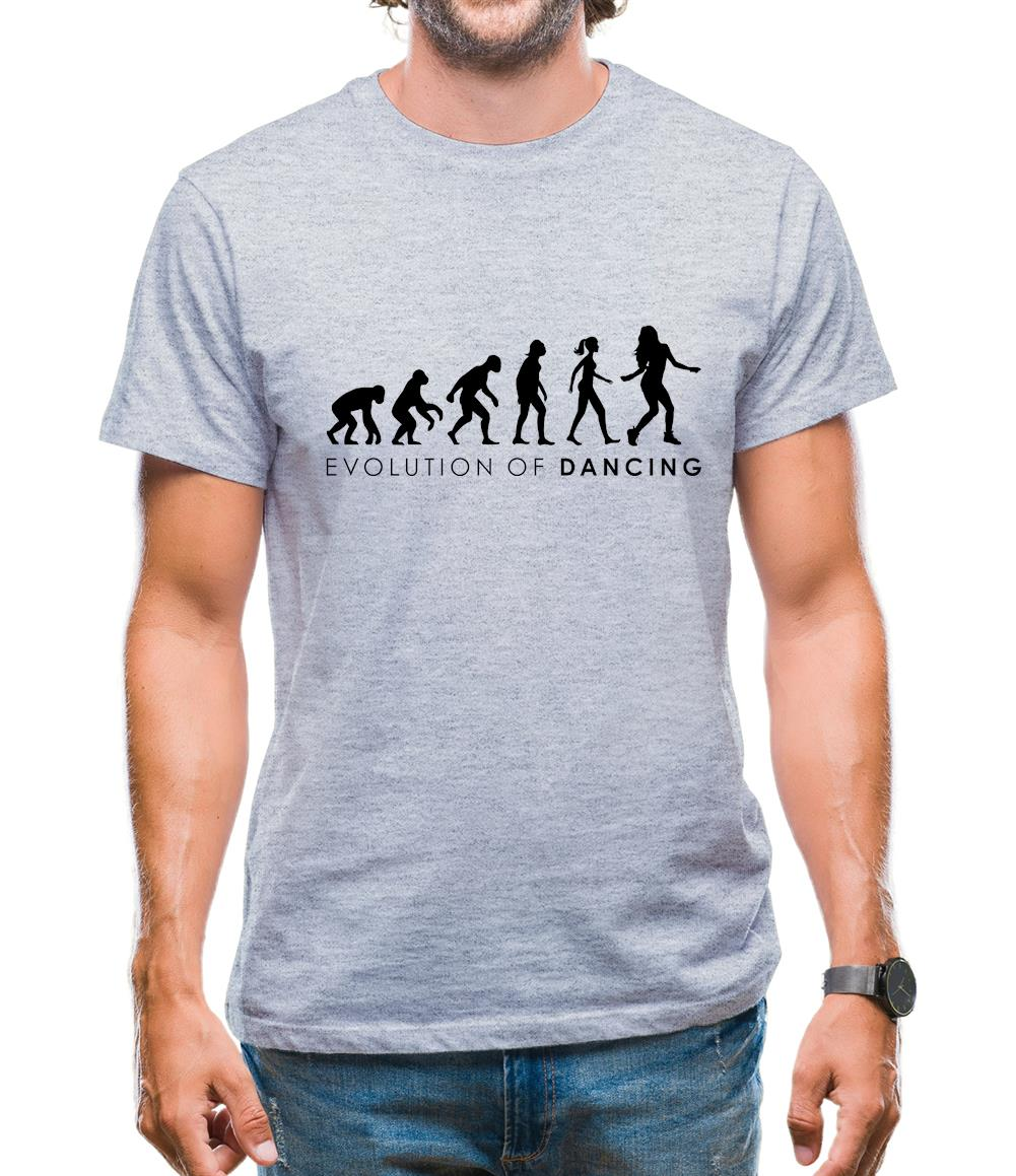 Evolution Of Woman Dancing Mens T-Shirt