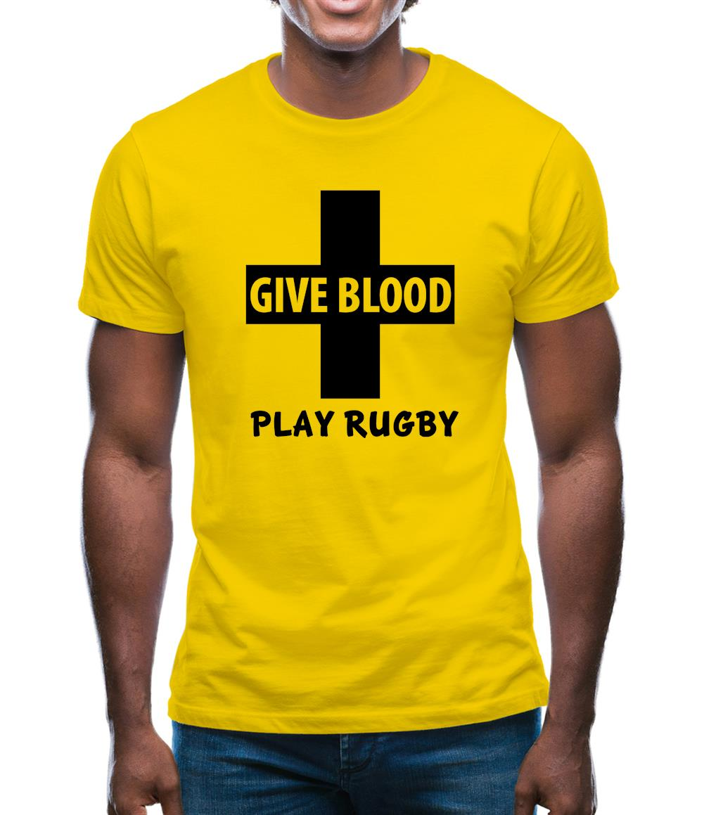 76e84e25 Give Blood Play Rugby Mens T-Shirt – Tee.sh