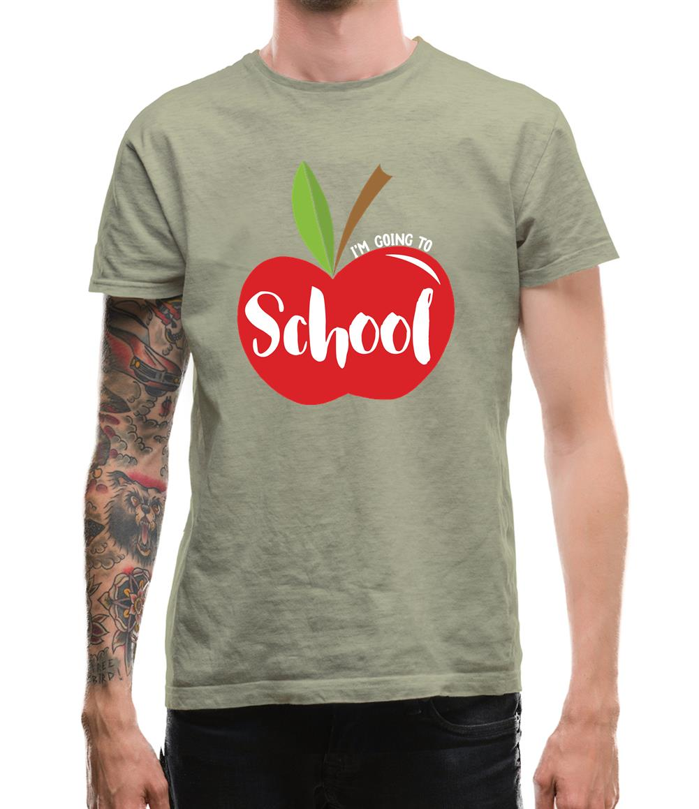 I'm Going To School Mens T-Shirt