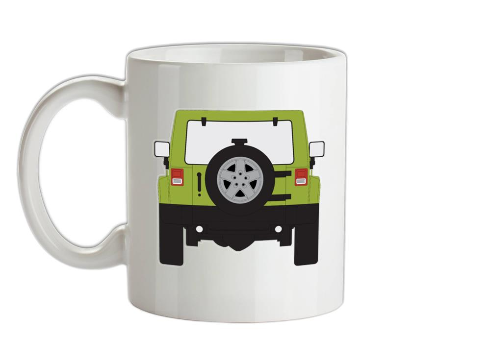JW Rear Hyper Green Ceramic Mug