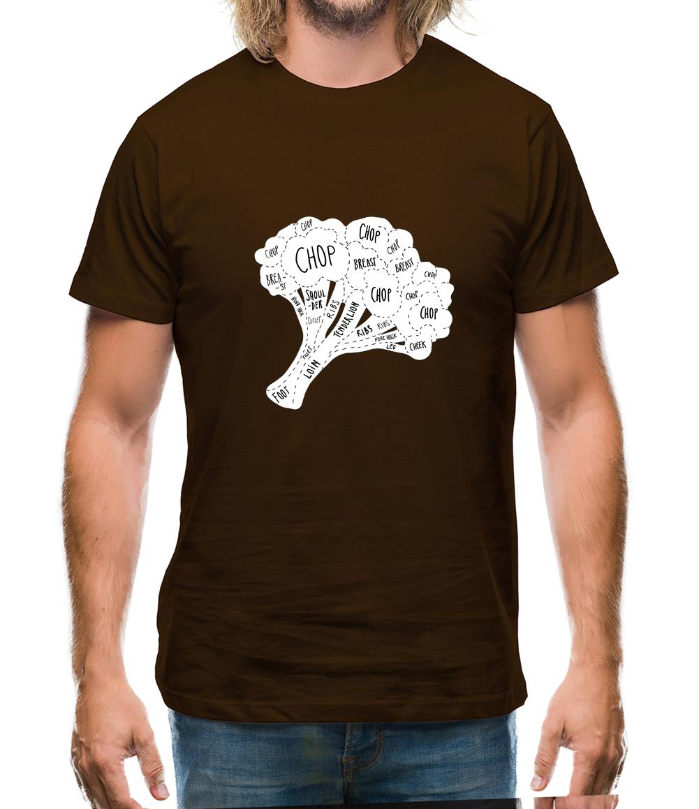 Butcher Broccoli Diagram Mens T-Shirt