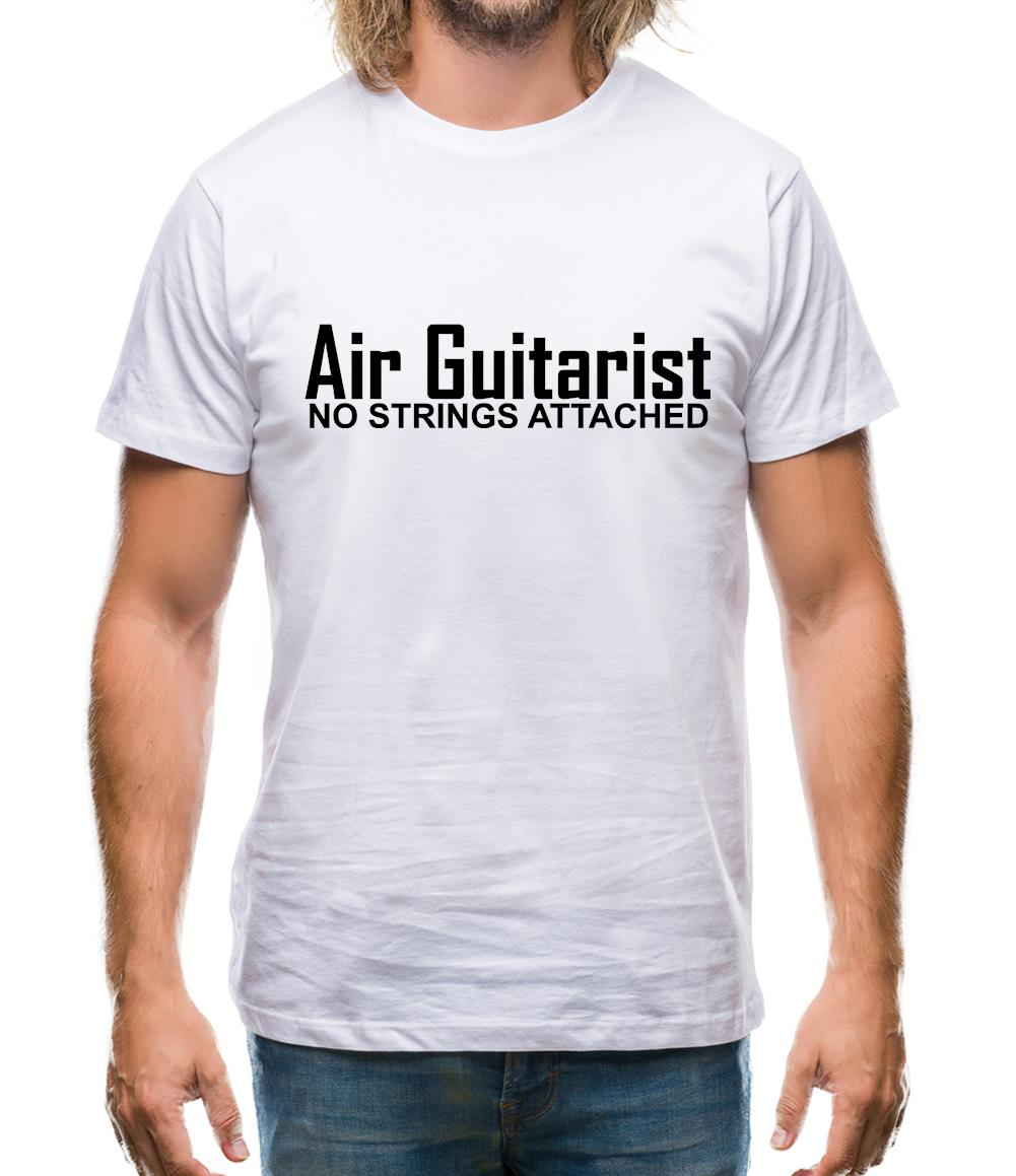 Air Guitarist - No Strings attached Mens T-Shirt