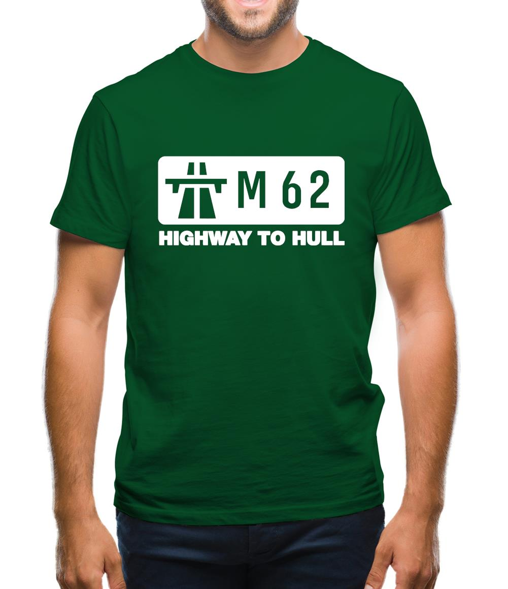 M62 Highway to Hull Mens T-Shirt