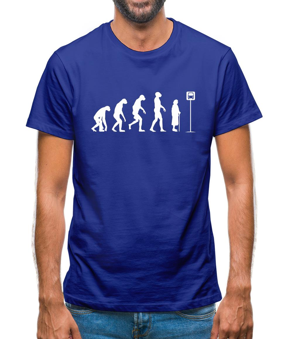 Evolution - Bus Stop Mens T-Shirt