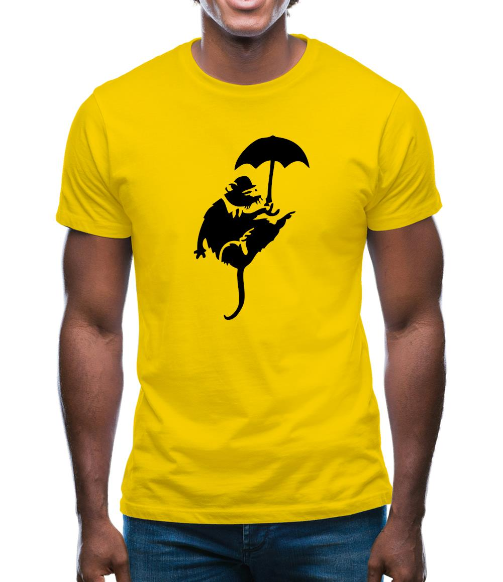 Banksy Flying Rat Mens T-Shirt