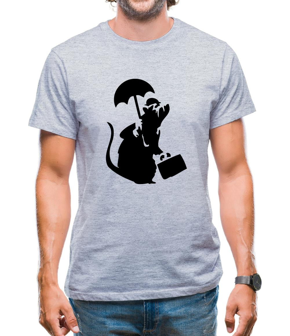 Banksy - Executive Rat Mens T-Shirt