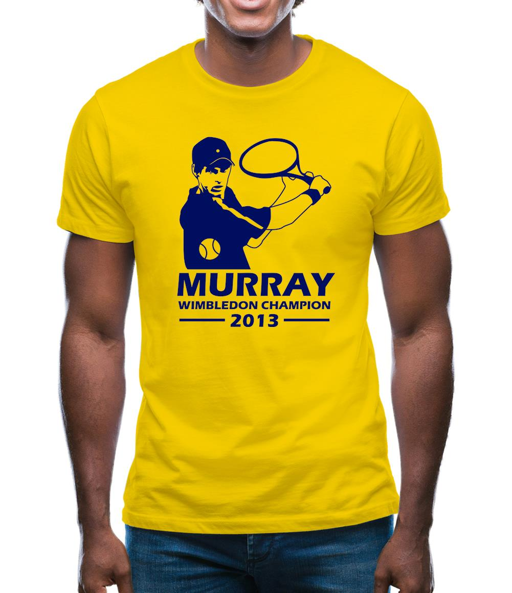 Andy Murray Wimbledon Champion Mens T-Shirt