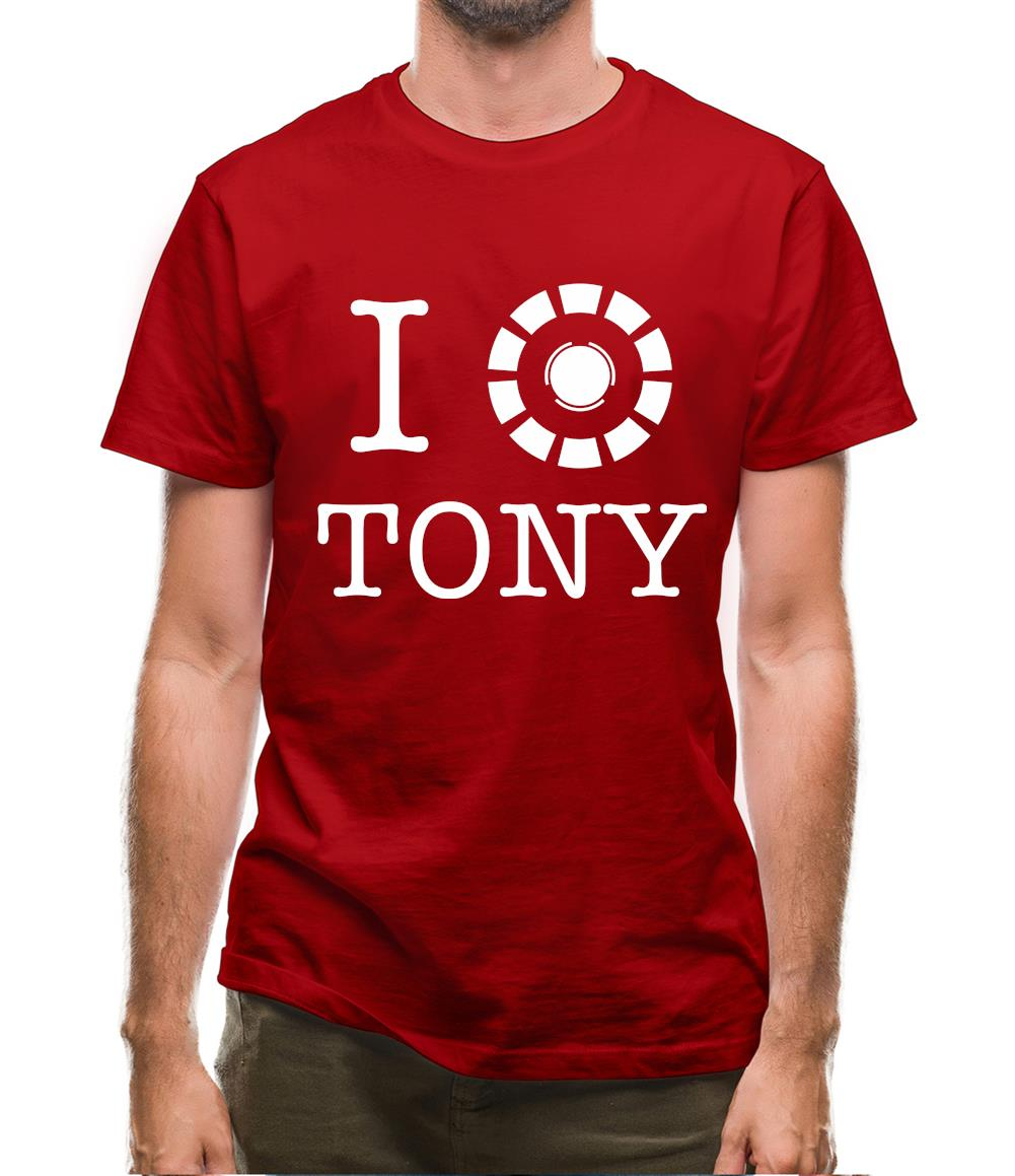I Heart Tony Stark Mens T-Shirt