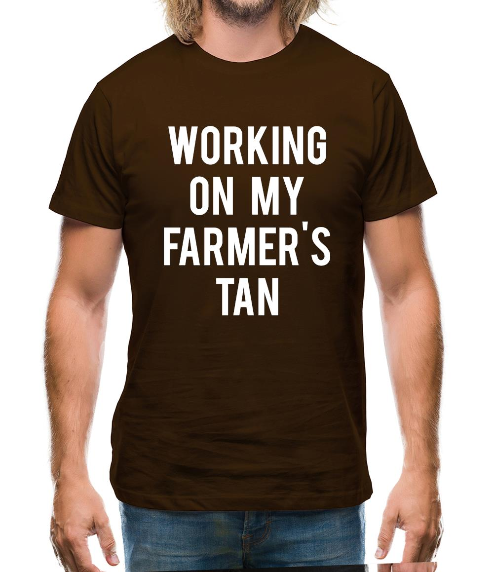 Working On My Farmer's Tan Mens T-Shirt