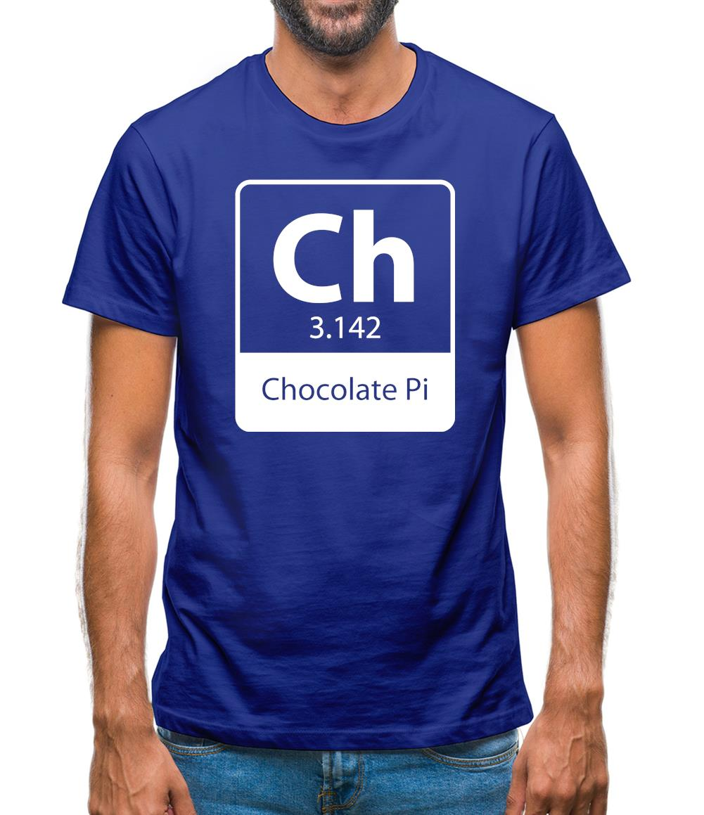 Chocolate Pi Mens T-Shirt