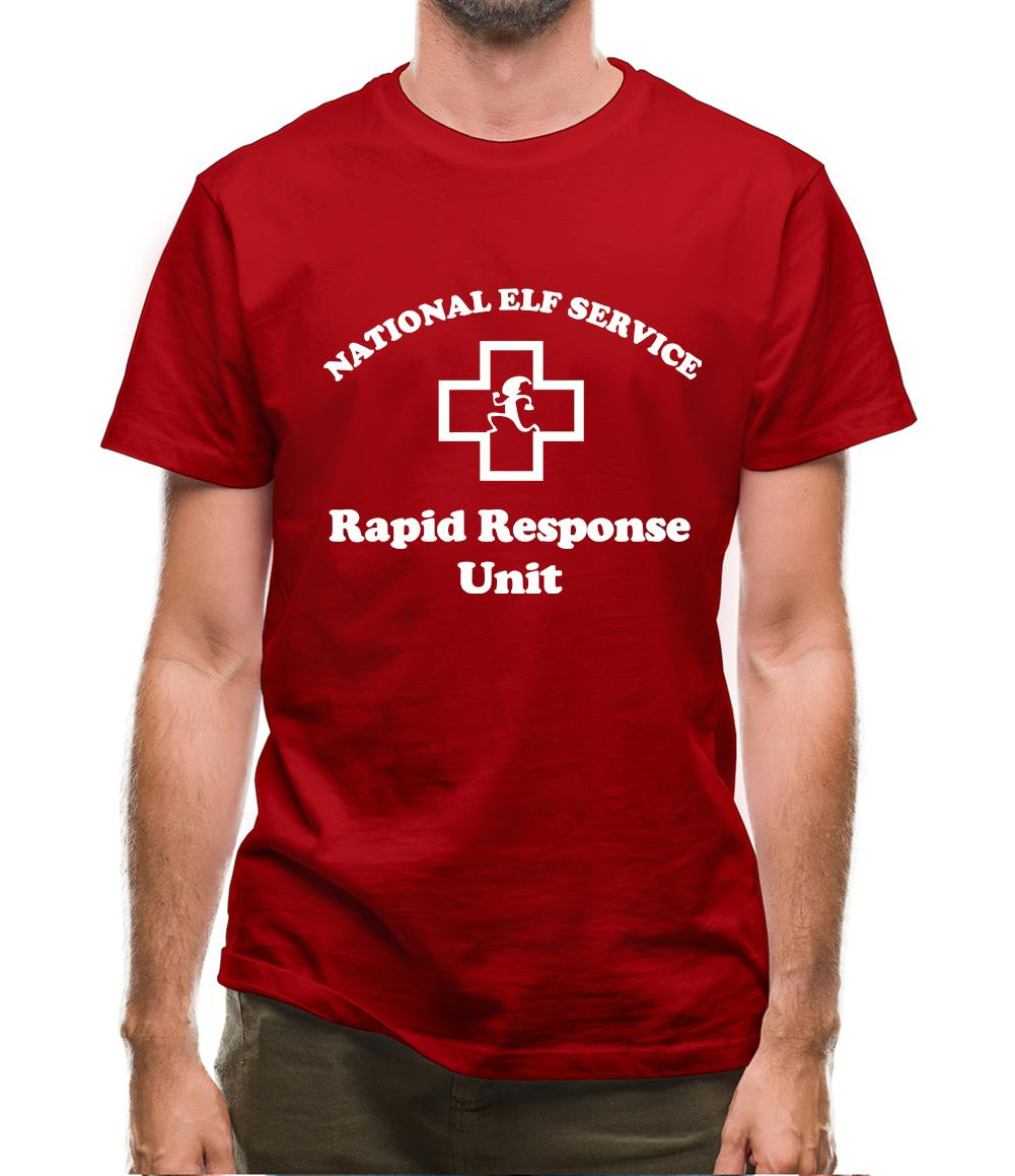 National Elf Service - Rapid Response team Mens T-Shirt
