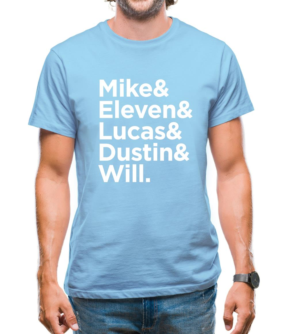 Mike & Eleven & Lucas & Dustin & Will Mens T-Shirt