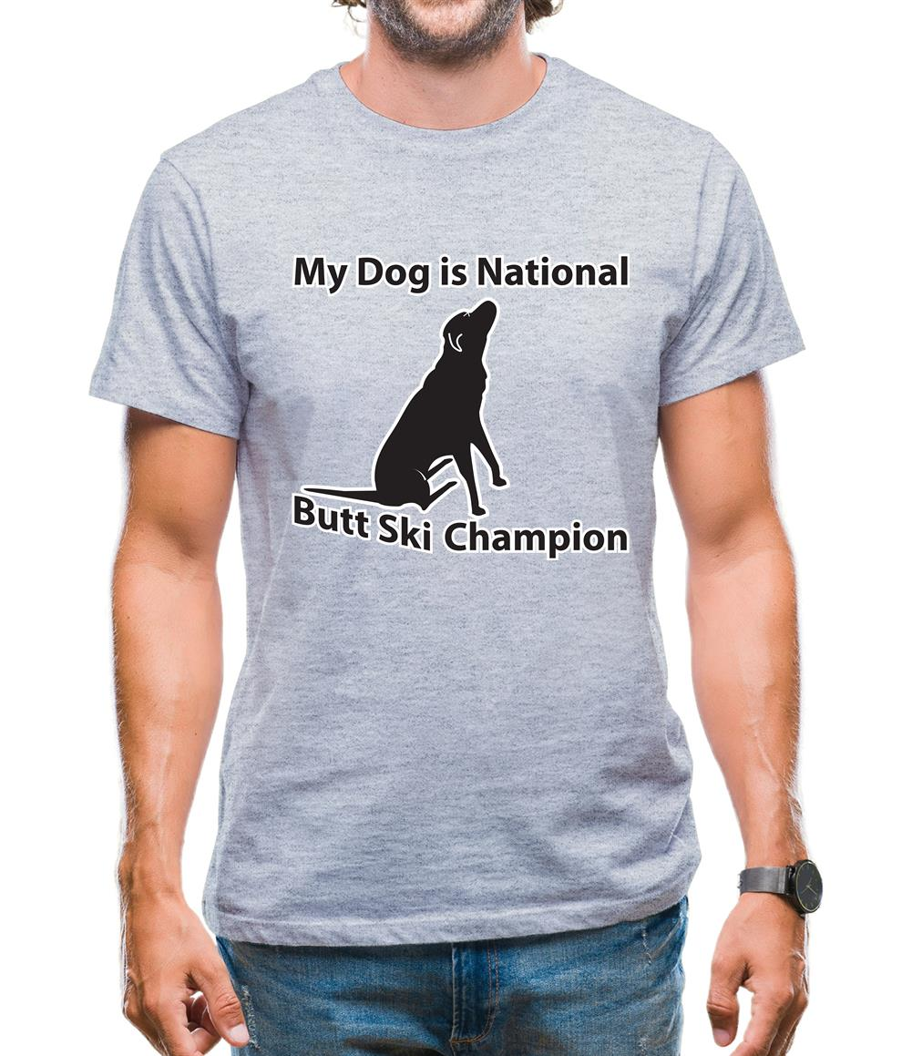My Dog is Butt Ski Champ Mens T-Shirt