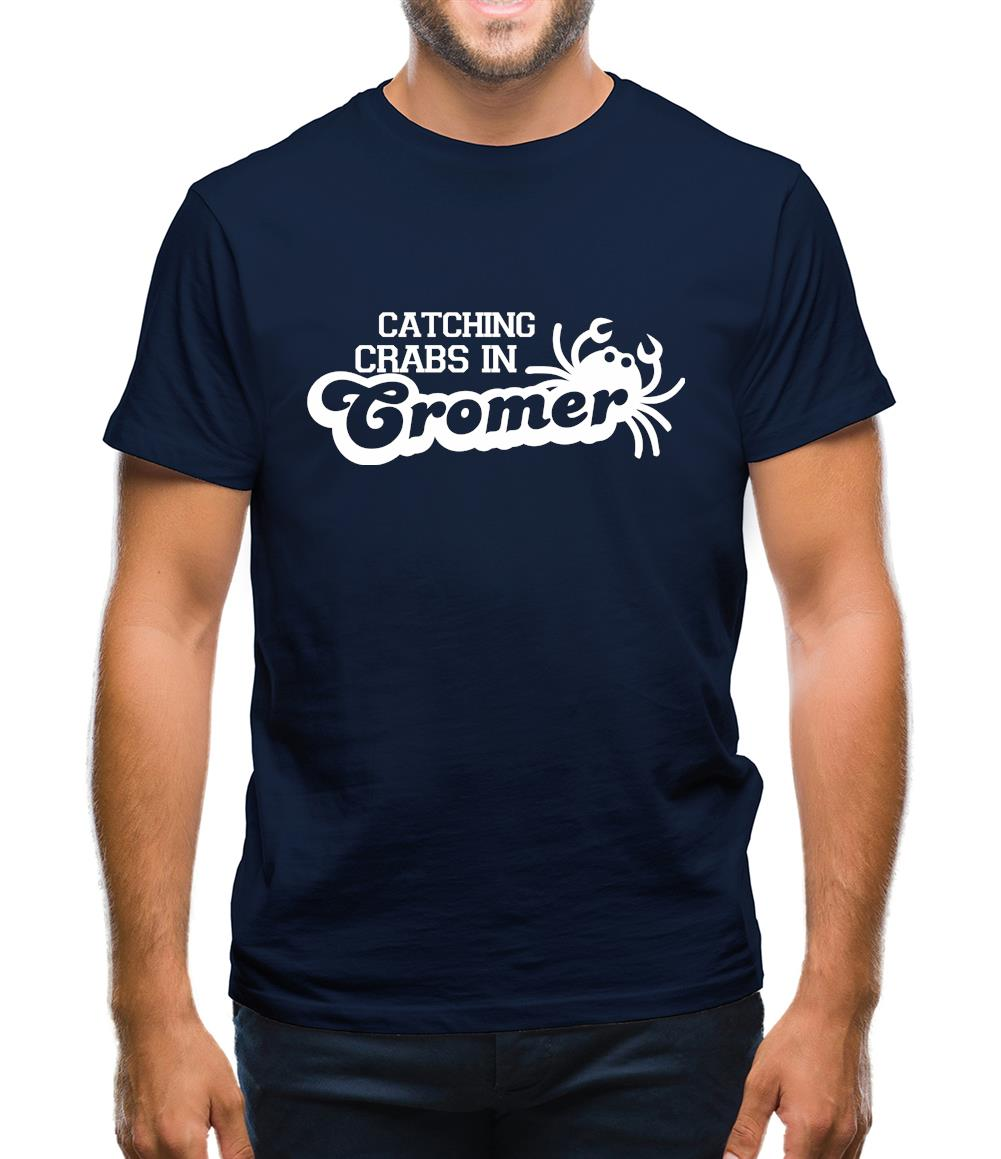 Catching Crabs In Cromer Mens T-Shirt