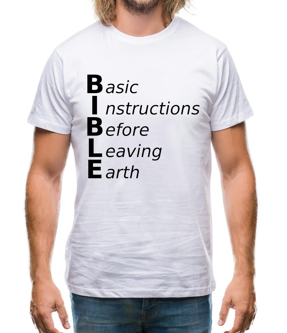 Basic Instructions Before Leaving Earth Mens T-Shirt