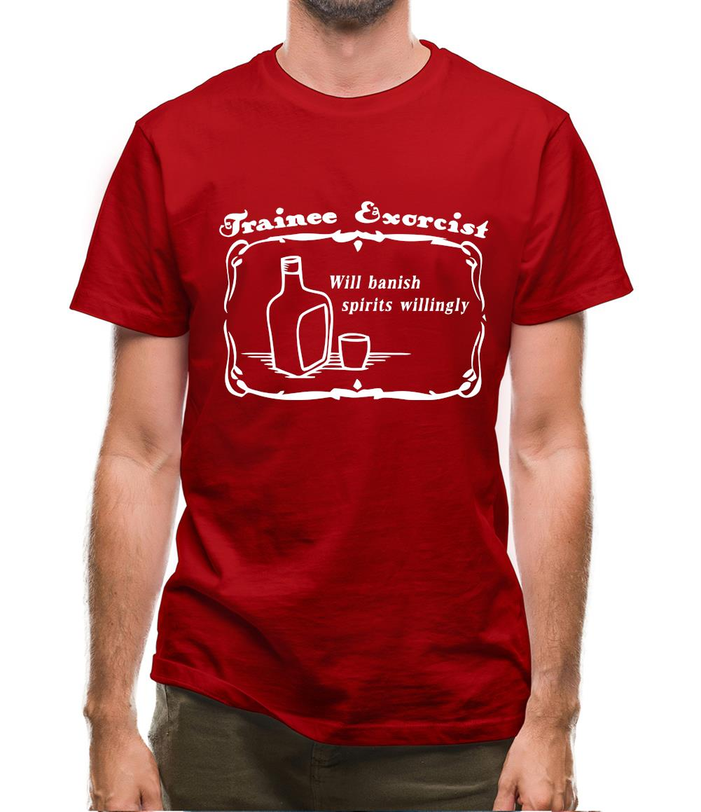 Trainee exorcist will banish spirits willingly. Mens T-Shirt