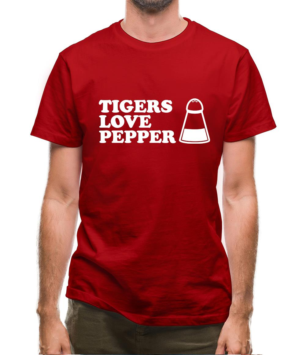Tigers Love Pepper Mens T-Shirt