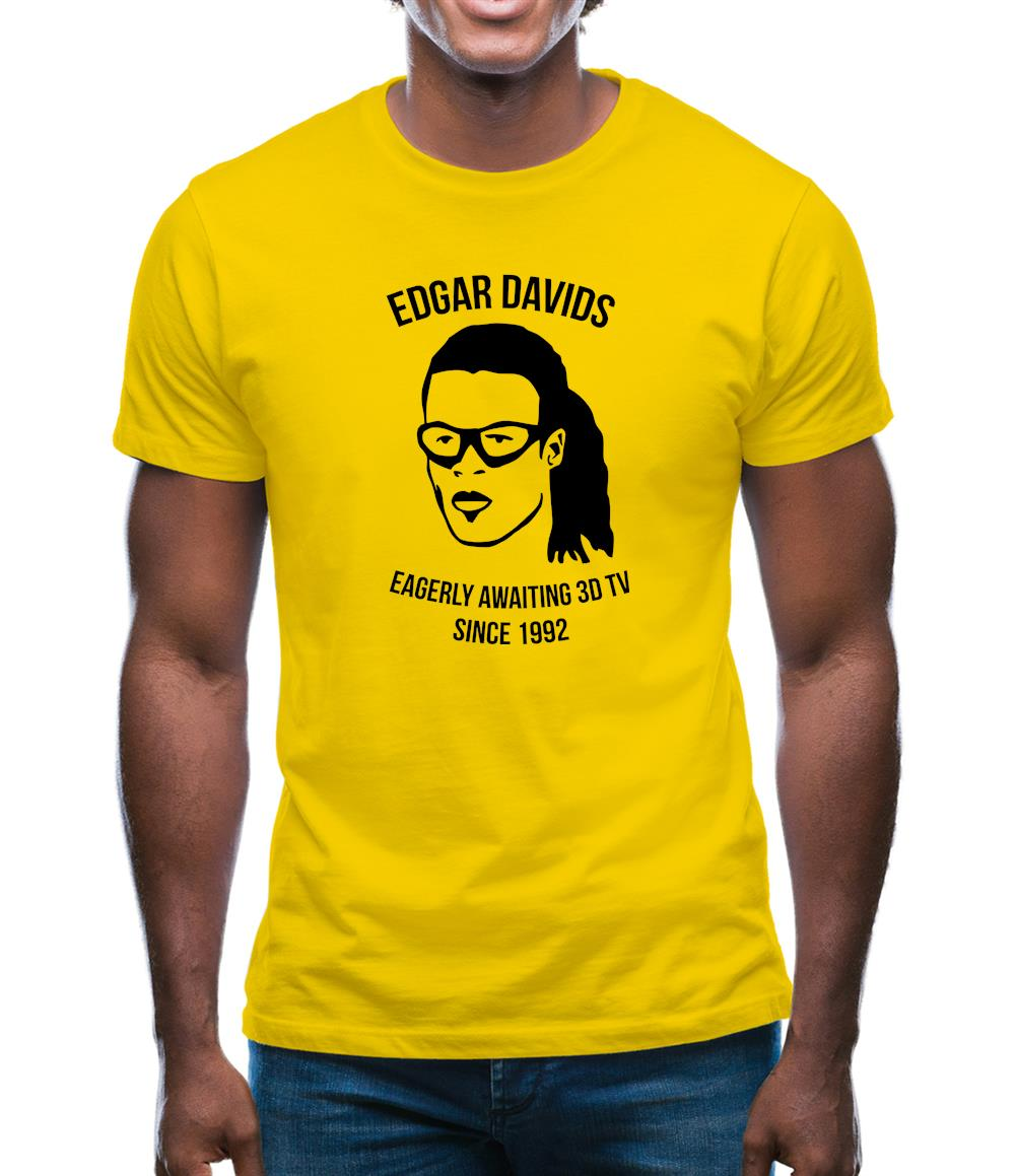Edgar Davids: Eagerly Awaiting 3D TV Since 1992 Mens T-Shirt