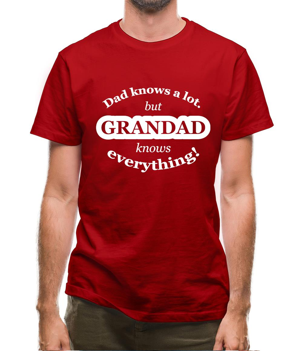 Dad Knows A Lot But Grandad Knows Everything Mens T-Shirt