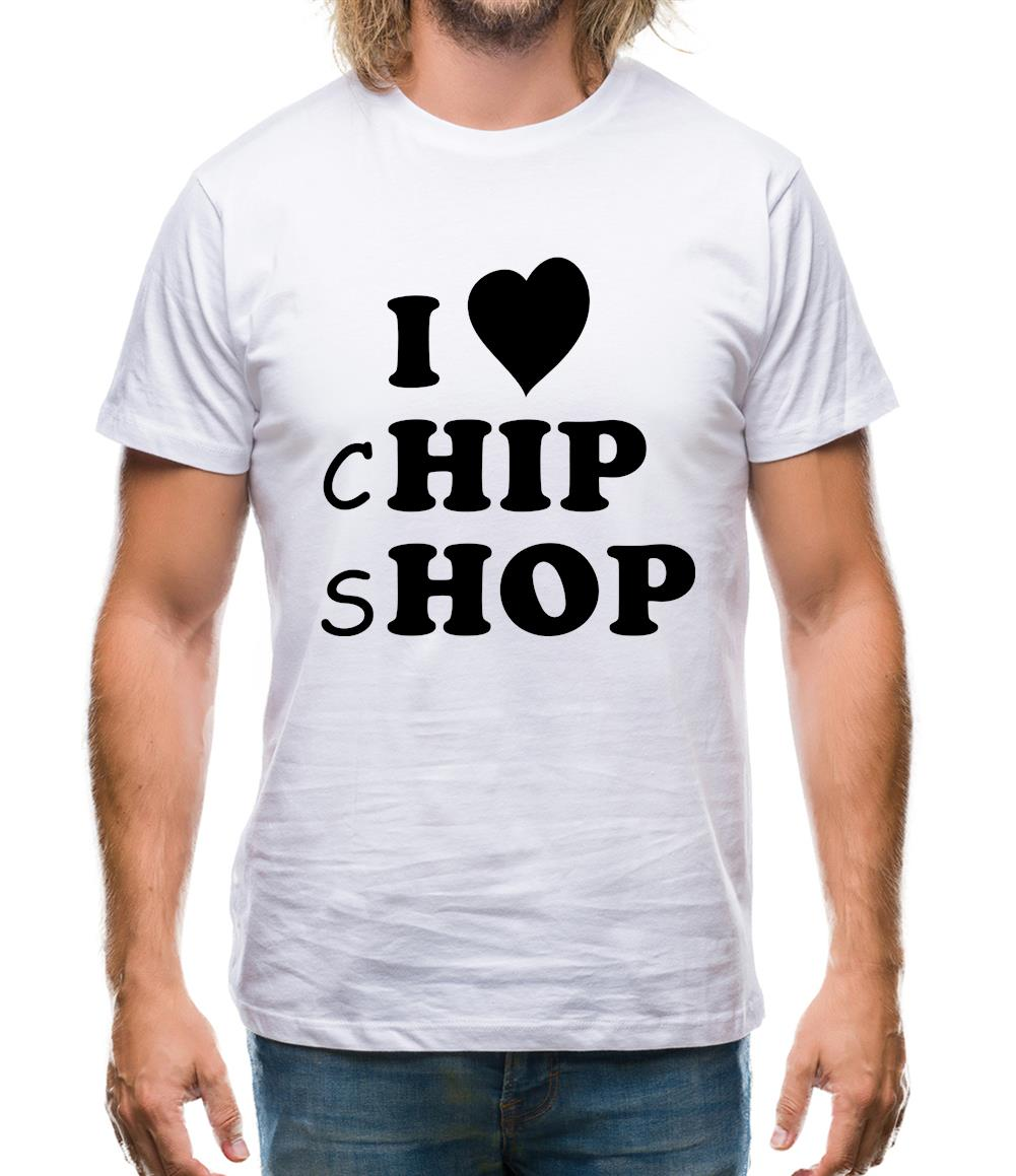I Love Chip Shop Mens T-Shirt