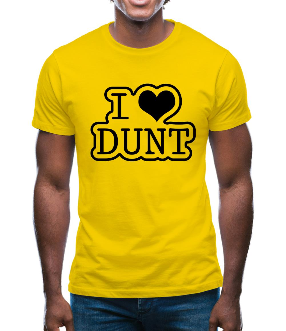 I Love Dunt Mens T-Shirt