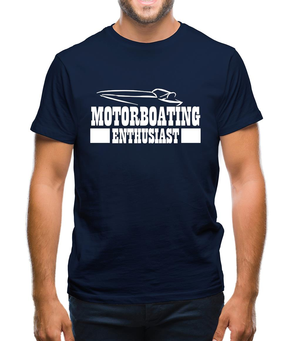 Motorboating Enthusiast Mens T-Shirt