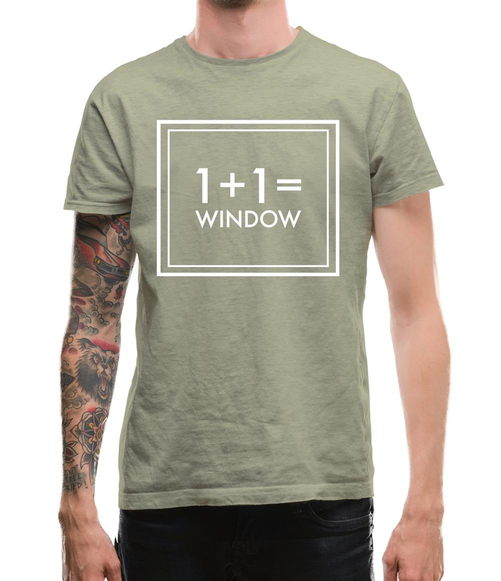 One Plus One Equals Window Mens T-Shirt