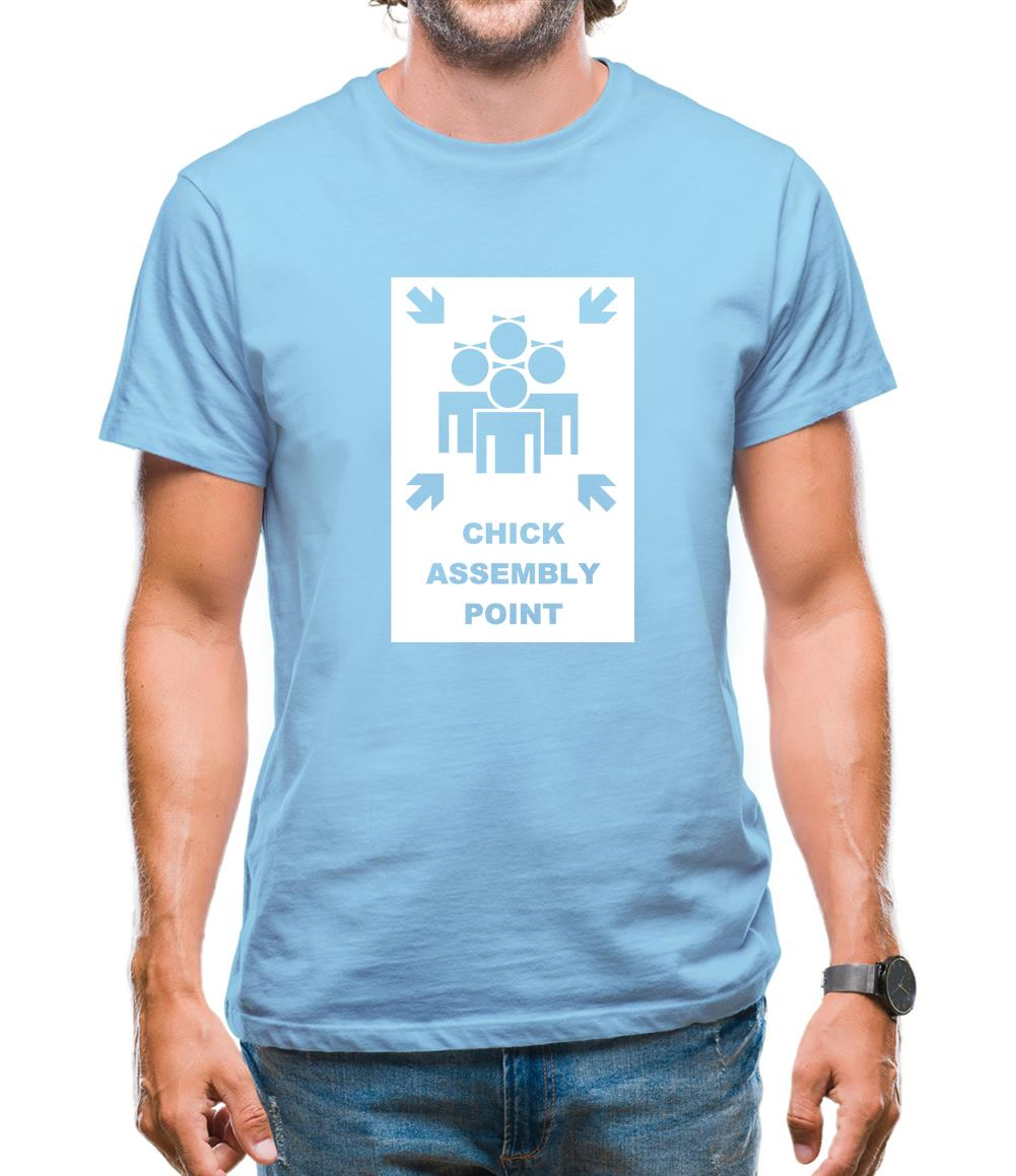 Chick Assembly Point Mens T-Shirt