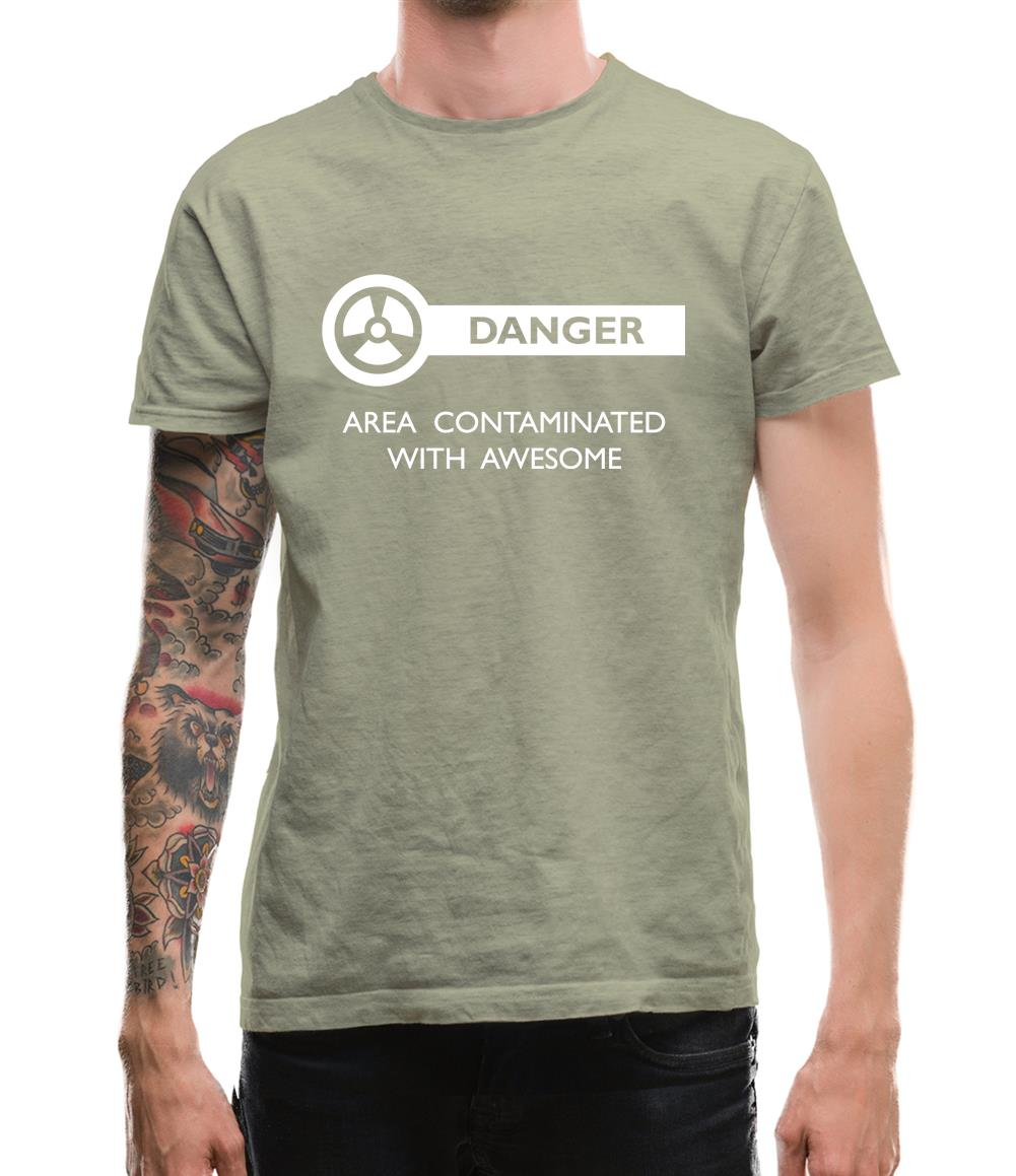 Danger Area Contaminated With Awesome Mens T-Shirt