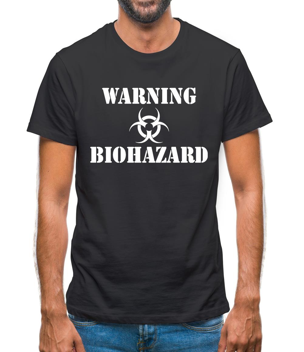 Warning Biohazard Mens T-Shirt
