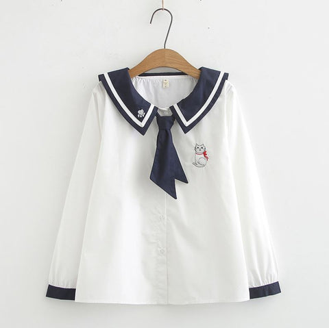 Cat Sailor Top