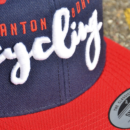 S&D Snapback Cap navy-red
