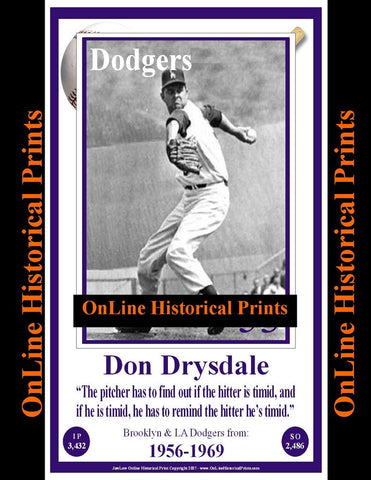Don Drysdale -Famous Quote Below