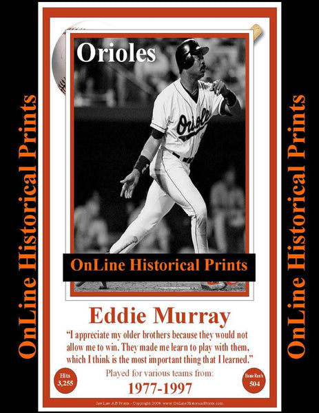 Eddie Murray -Famous Quote Below