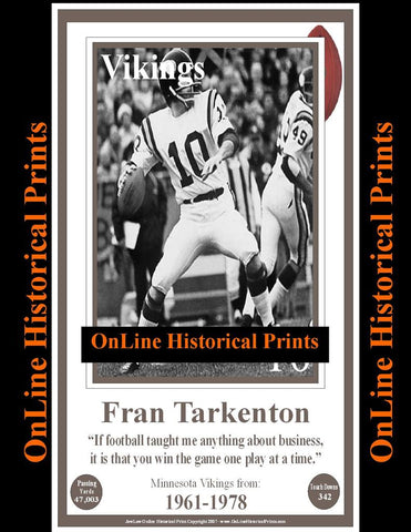 Fran Tarkenton -Famous Quote Below