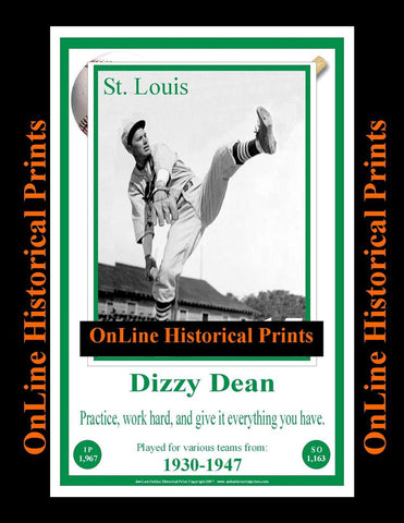 Dizzy Dean -Famous Quote Below