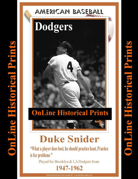 Duke Snider -Brown Collection