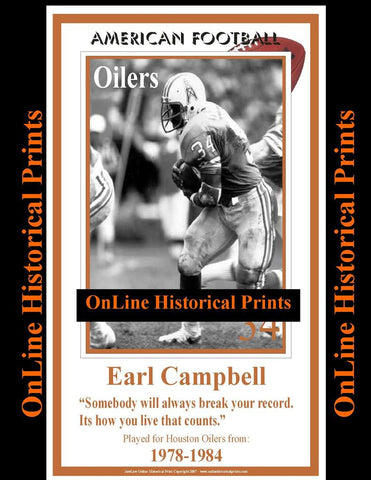Earl Campbell -Brown Collection